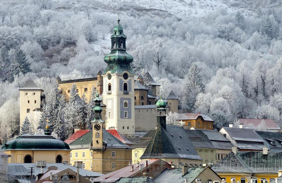 Замок в Словакии на кануне Нового года